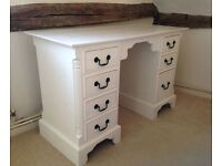 Georgian white painted French shabby chic DRESSING TABLE/DESK
