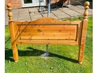 solid pine double bed Headboard in good condition