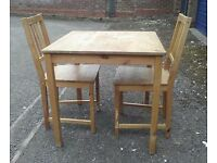 Ikea Ingo Wood Dining Table with Two Stefan Chairs - Can deliver