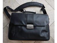 BRIEFCASE Professional Large Black Briefcase Laptop Mac Air Etc Shoulder Strap