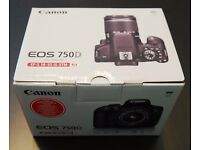 Brand New Canon 750D with EF-S 18-55 mm f/3.5-5.6 IS STM Zoom Lens £619