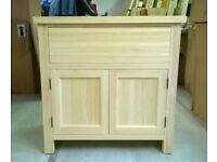 Solid Pine Kitchen Base Unit with 1 Drawer + 2 Doors 900mm