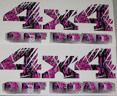 DARK Pink Girl Camo 4X4 OFF ROAD #2 BED SIDE Decals Decal F150 F250 Ram Muddy