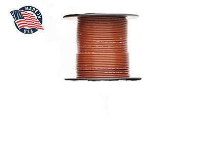 100ft Milspec High Temperature Wire Cable 22 Gauge Brown Tefzel M2275916-22-1