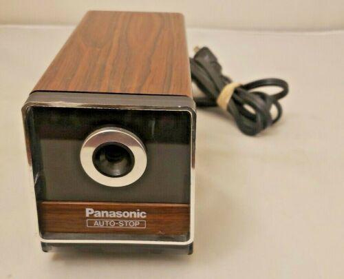 Panasonic KP-120 Electric Wood Pencil Sharpener Auto Stop *VINTAGE* NICE BLADES!