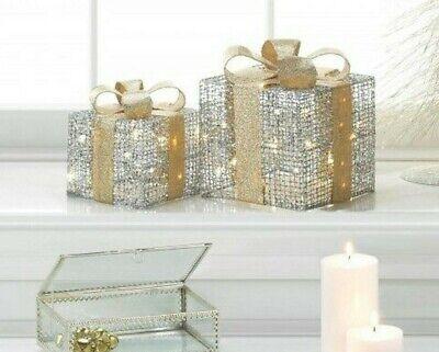 You Choose Size - Light-Up Christmas Gift Box Decor ()