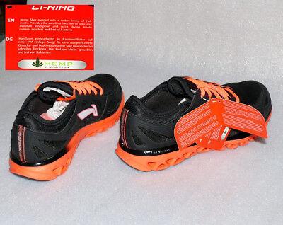 Lining D312 Hanf Tech Damen Schuhe Sneaker ZIGZAG Black Neo Pink/Orange 40 1/3 ()