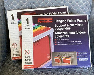 Lot 2 Pendaflex Hanging Folder Frames Fits 18 - 27 File Drawers New