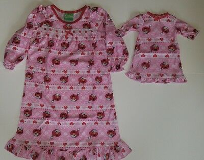 "Sesame Street Elmo Toddler Christmas Nightgown & 18"" Doll Gown Pajamas New 2T - Christmas Nightgown Toddler"