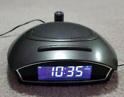 Homedics AM/FM Sound Spa Clock Radio Alarm Nature Sounds Projector SS-4510B