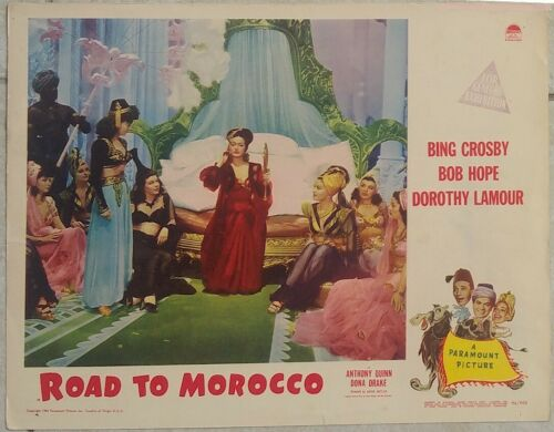 ROAD TO MOROCCO 1942 BOB HOPE & BING CROSBY ORIGINAL LOBBY CARD