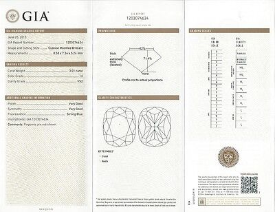 Micro Pave 4.51 Ct Cushion Cut Diamond Engagement Bridal Set  H,VS2 GIA Platinum 2