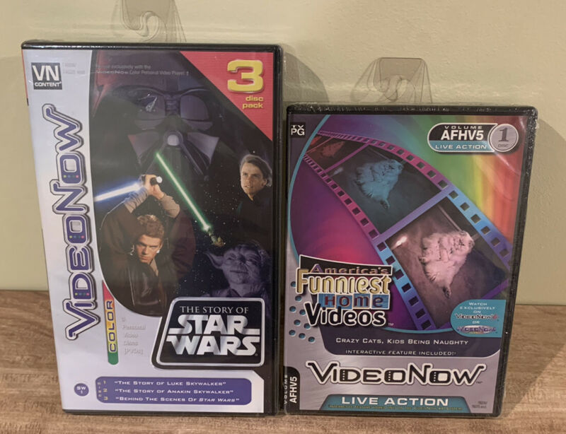 Tiger Electronics - VideoNow - Funniest Home Videos/Star Wars - 2 Pack - SEALED