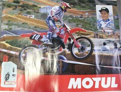 Affiche moto cross honda cr greg albertijn huile moteur motul gp trial endurance