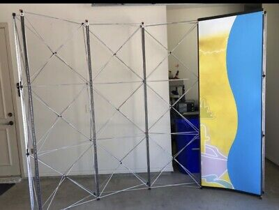Trade Show Pop Up Display Aluminum Frame 4 Panels 9 Tall 10 Long Wcase