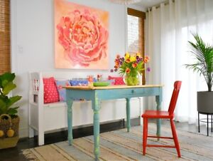 Rustic farmhouse antique table