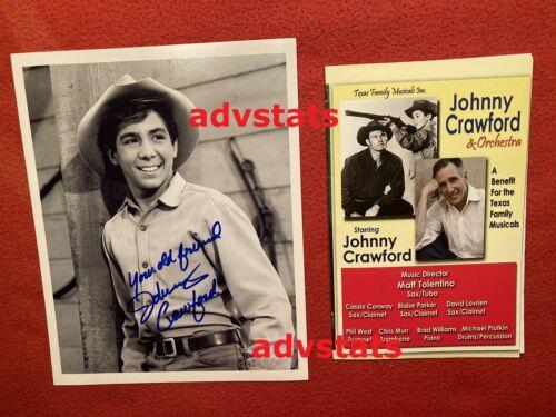 Authentic autograph JOHNNY CRAWFORD signed 8x10 b/w matt photo w/ event program