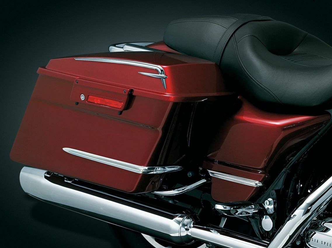 Mustang Plain Solo Seat Smooth Fender Bib Cover Harley Touring Bagger 97-2020