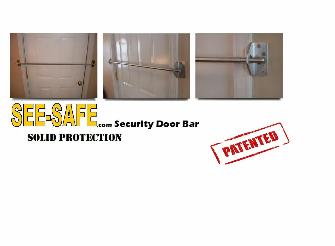 Safe Home Security Doors : See safe home security solid door bar lock system new in box