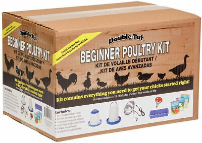 Poultry Starter Kit Double Tuff 250w Red Heat Lamp Bulb 12 Feeding Holes New