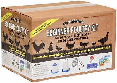 Poultry Chicken Starter Kit Double Tuff 250w Red Heat Lamp Bulb 12 Feeding Holes
