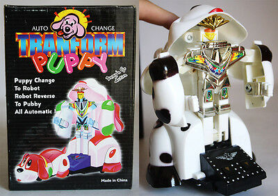 VERY RARE VINTAGE 90'S AUTO CHANGE TRANSFORM PUPPY TRANSFORMABLE B/O NEW MIB !