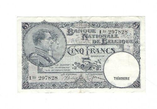 Belgium - 5 Francs 1938 (1988)