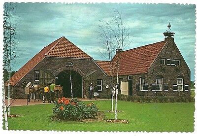 18th Century Farmhouse (18th Century Replica Barn Farm House Dutch Village Holland MI Michigan  Postcard )