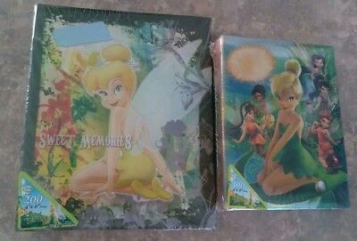 DISNEY TINKERBELL Set of 2 4x6 Photo Albums-One Holds 100/Other Holds 200 NEW Disney Tinkerbell Photo Albums
