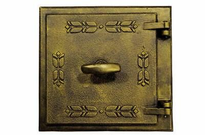 Cast Iron Fire Door Clay Bread Oven Pizza Stove Quality Gold (PQ) 27 x 28,5