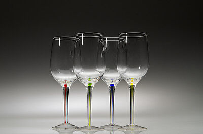 Wine Stem - Wine Glasses with Multi-Colored Stems