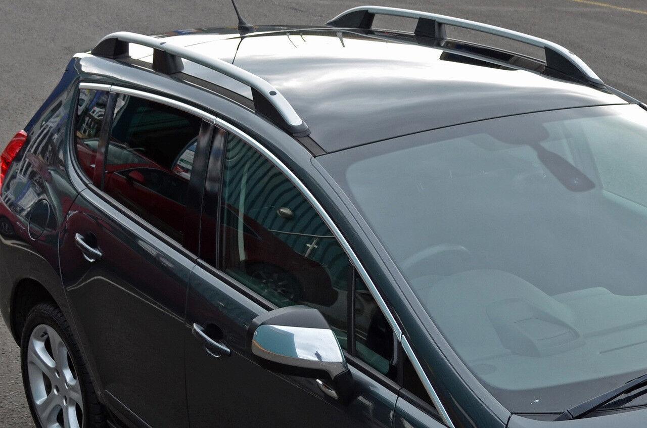 Aluminium Roof Rack Rails Side Bars Set To Fit Peugeot 3008 2008 16 Ebay