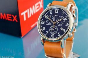 NEW-MENS-TIMEX-VINTAGE-MILITARY-AVIATOR-TYPE-MIDNIGHT-BLUE-CHRONOGRAPH-WATCH
