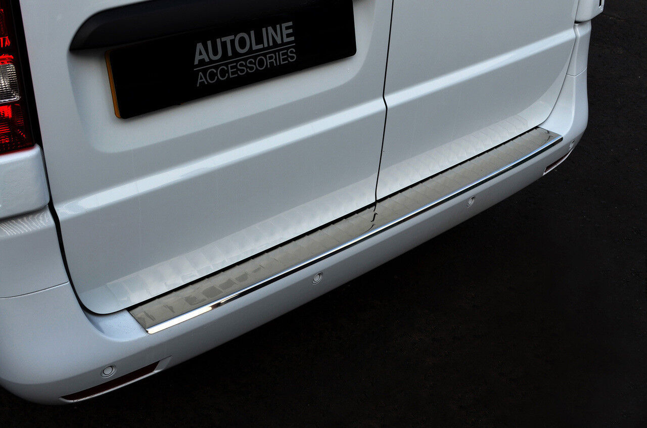 for VITO W447 2014 UP VAN Stainless Steel CHROME Rear Bumper Protector Sill Anti-Scratch Guard Cover
