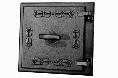 Cast Iron Fire Door Clay Bread Oven Pizza Stove Quality Black (PQ) 27 x 28,5