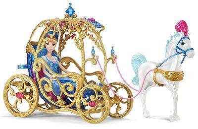 Disney Princess Cinderella Horse & Carriage Toy Girls Royal Doll Fantasy Pumpkin