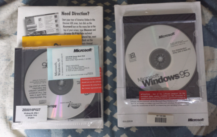 Windows 95 cd with  key never used