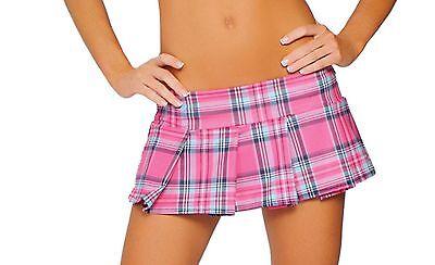 Pleated Mini Skirt Plaid School Girl Costume Roma Blue Pink Red ...