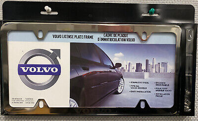 Volvo License Plate Frame With Acorn Nuts