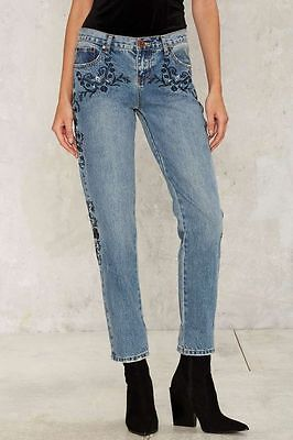 One Teaspoon Awesome Baggies Blue Lola Jeans Size 30 Ri