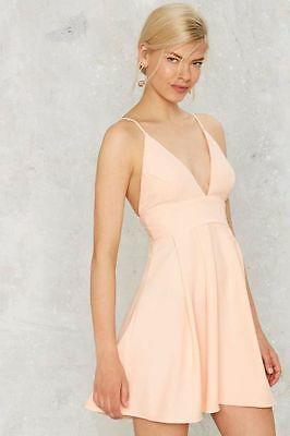 - Nasty Gal Paper Chandler Figure of Peach Fit & Flare Dress Size M NG16
