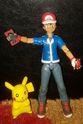 Vintage Official POKEMON ASH Figure Figurine - TOMY