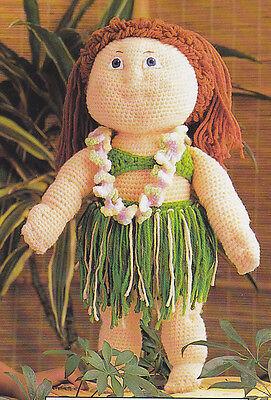 Crochet Pattern ~ Doll Hula Costume ~ Instructions