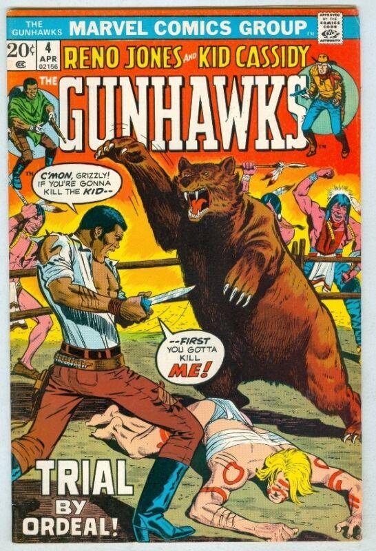 Gunhawks #4 April 1973 FN