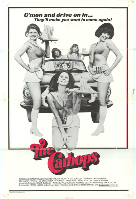 CARHOPS Movie POSTER 27x40