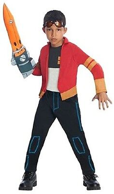 Generator Rex  or  Race Car Driver Costume Kids M or L With Glasses & Weapon - Child Race Car Driver Costume