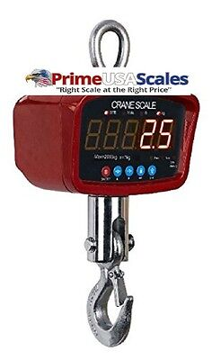 Optima Scale Op-924a1500 Lb Digital Portable Industrial Hanging Led Crane Scale