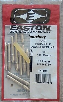 Easton A/C/C PARABOLIC POINTS 12 PACKAGE 100 GR FOR -18