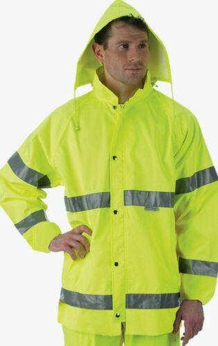 Lakeland 4XL Hi-Vis Rain Jacket ANSI Class 3 High Visibility Yellow Reflective