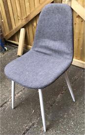 Modern Grey Fabric Dining Chairs